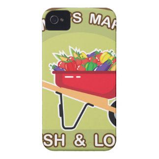 Farmer's Market Sign Fresh and Local Case-Mate iPhone 4 Case