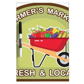 Farmer's Market Sign Fresh and Local Dry-Erase Board