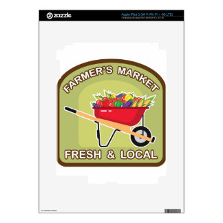 Farmer's Market Sign Fresh and Local Skin For iPad 3