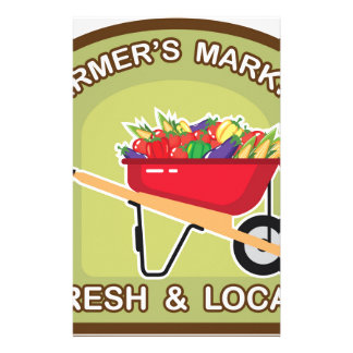 Farmer's Market Sign Fresh and Local Stationery