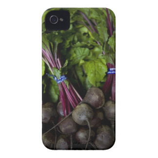 farmers market stand with various produce/ 2 iPhone 4 case
