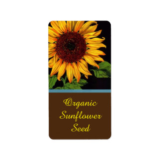 Farmers Market Sunflower Seeds Sell Product Label
