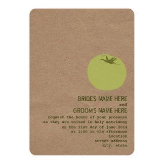 """Farmer's Market Theme Wedding Invite Green Tomato 5"""" X 7"""" Invitation Card"""