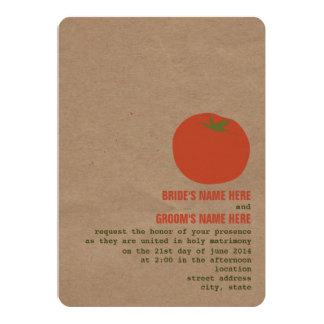 Farmer's Market Theme Wedding Invite | Tomato