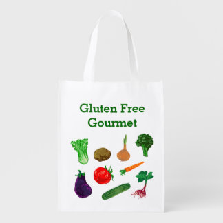 Farmers Market Vegetables Personalized Tote Reusable Grocery Bags