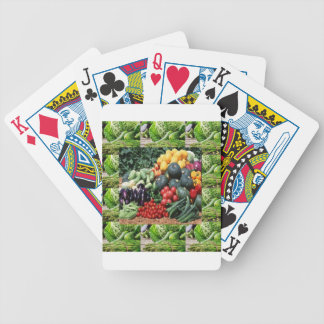 Farmers market veggie delight chefs cuisine ideas bicycle playing cards