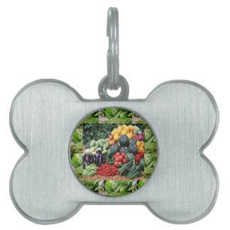 Farmers market veggie delight chefs cuisine ideas pet tag