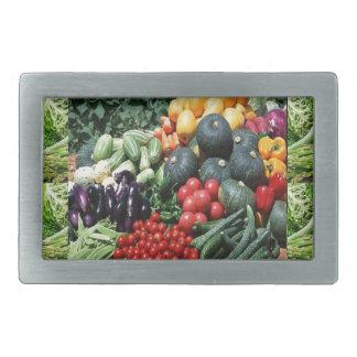 Farmers market veggie delight chefs cuisine ideas rectangular belt buckle