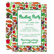 Farmers Market Veggie Garden Spring Planting Party Invitation