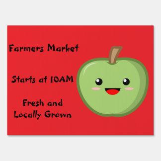 Farmers Market Yard Sign