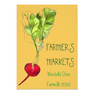 Farmer's Markets organic fruit and vegetable Card