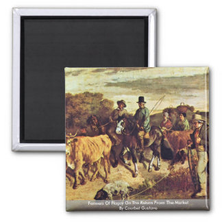 Farmers Of Flagey On The Return From The Market 2 Inch Square Magnet