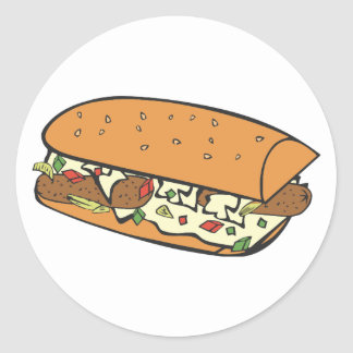 Farmers omelet round sticker