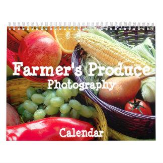 Farmer's Produce Photography Calendar