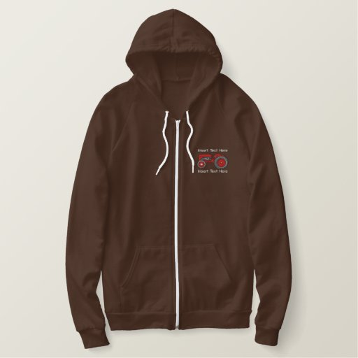 Farmers Retirement Gifts Embroidered Hoodie