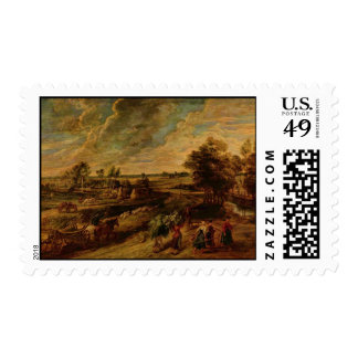 Farmers Returning from the Fields Postage