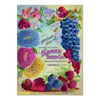Farmers Seed Company Vintage Advertisement Posters