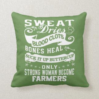 Farmers Throw Pillow