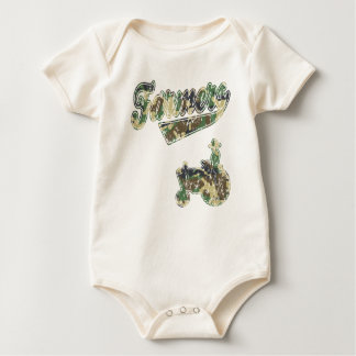Farmers Tractor Baby Bodysuit