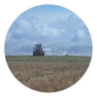 Farmer's Tractor Classic Round Sticker