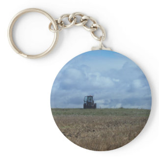 Farmer's Tractor Keychain