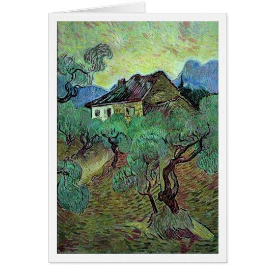 Farmhouse Among Olive Trees Van Gogh Fine Art Card