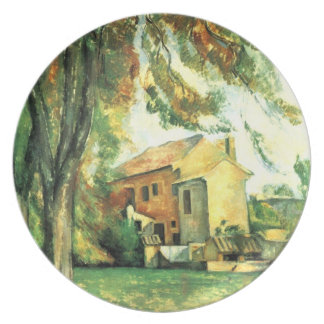 Farmhouse and Chestnut... by Paul Cezanne Plate