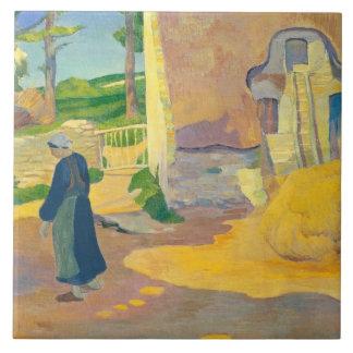Farmhouse at Le Pouldu, 1890 (oil on canvas) Tile