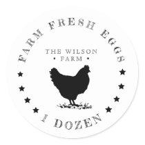 farmhouse best stars Egg Carton Sticker