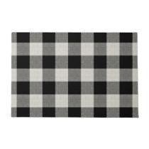 Farmhouse Black Buffalo Check Doormat