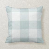 Farmhouse Blue Buffalo Check Throw Pillow