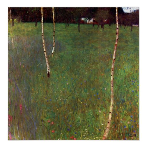 Farmhouse by Gustav Klimt Poster