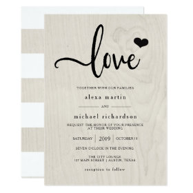 Farmhouse Chic | Modern Rustic Love Wedding Invitation
