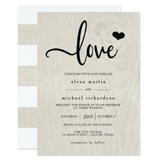 Farmhouse Chic | Modern Rustic Love Wedding Invitation