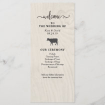 Farmhouse Chic | White Wood Wedding Program