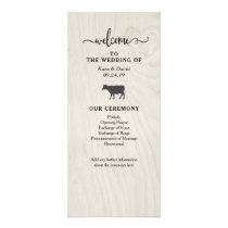 Farmhouse Chic | White Wood Wedding Program