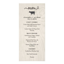 Farmhouse Chic | White Wood with Cow Wedding Menu