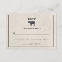Farmhouse Chic | White Wood with Cow Wedding RSVP