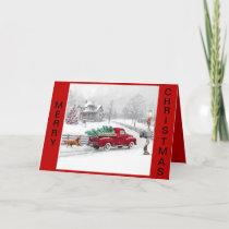 Farmhouse Christmas Scene Christmas Card