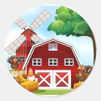 Farmhouse Classic Round Sticker
