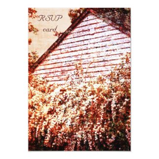farmhouse fragrant garden RSVP card