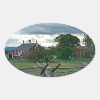 Farmhouse - Gettysburg National Park Pennsylvania Oval Sticker