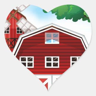 Farmhouse Heart Sticker