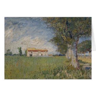 Farmhouse in a wheat field Card