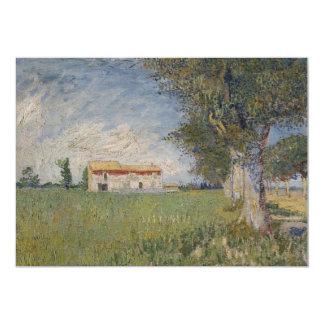 """Farmhouse in a wheat field Invitation 5"""" X 7"""" Invitation Card"""