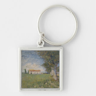 Farmhouse in a wheat field Keychain