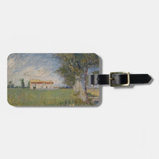 Farmhouse in a wheat field Keychain Bag Tag