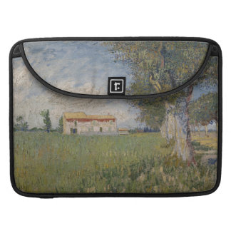 Farmhouse in a wheat field Macbook Pro Flap Sleeve Sleeves For MacBook Pro