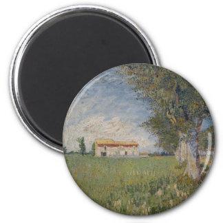 Farmhouse in a wheat field Magnet