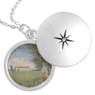 Farmhouse in a wheat field Necklace